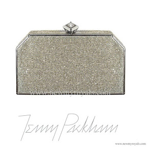 Kate Middleton Style Jenny Packham Casa Silver Gold Crystal Clutch