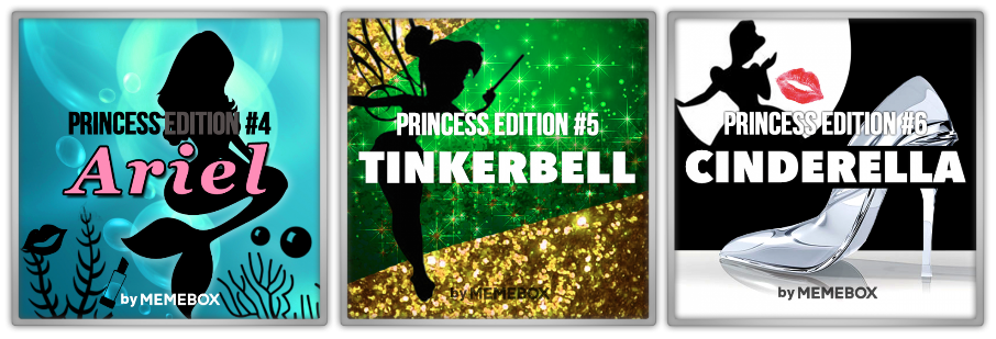 Memebox Superbox Princess Edition #4 Ariel #5 Tinkerbell #6 Cinderella valueset banner 미미박스 Commercial