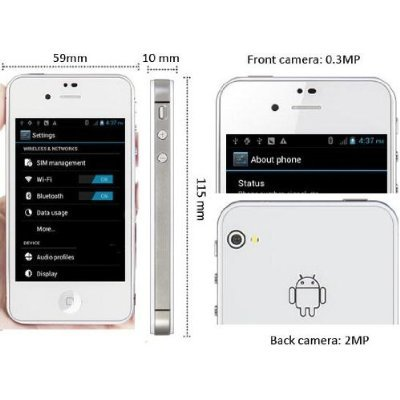 Android Smartphone with iPhone Design