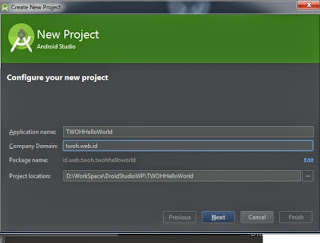 Add project name Android Studio