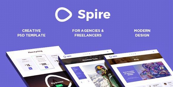 Spire Creative Agency PSD Theme