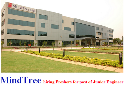 MindTree hiring Freshers for post of Junior Engineer