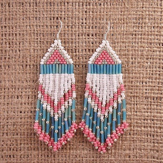 tribal earrings native american beadwork beaded directory
