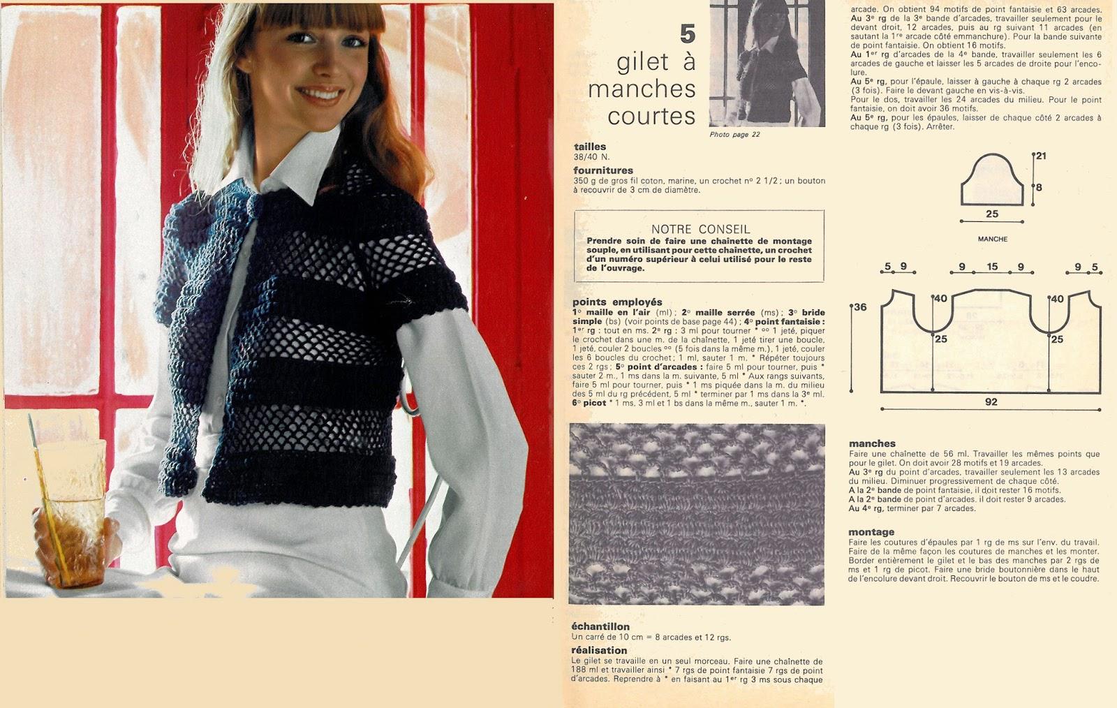 tricoter un gilet tube