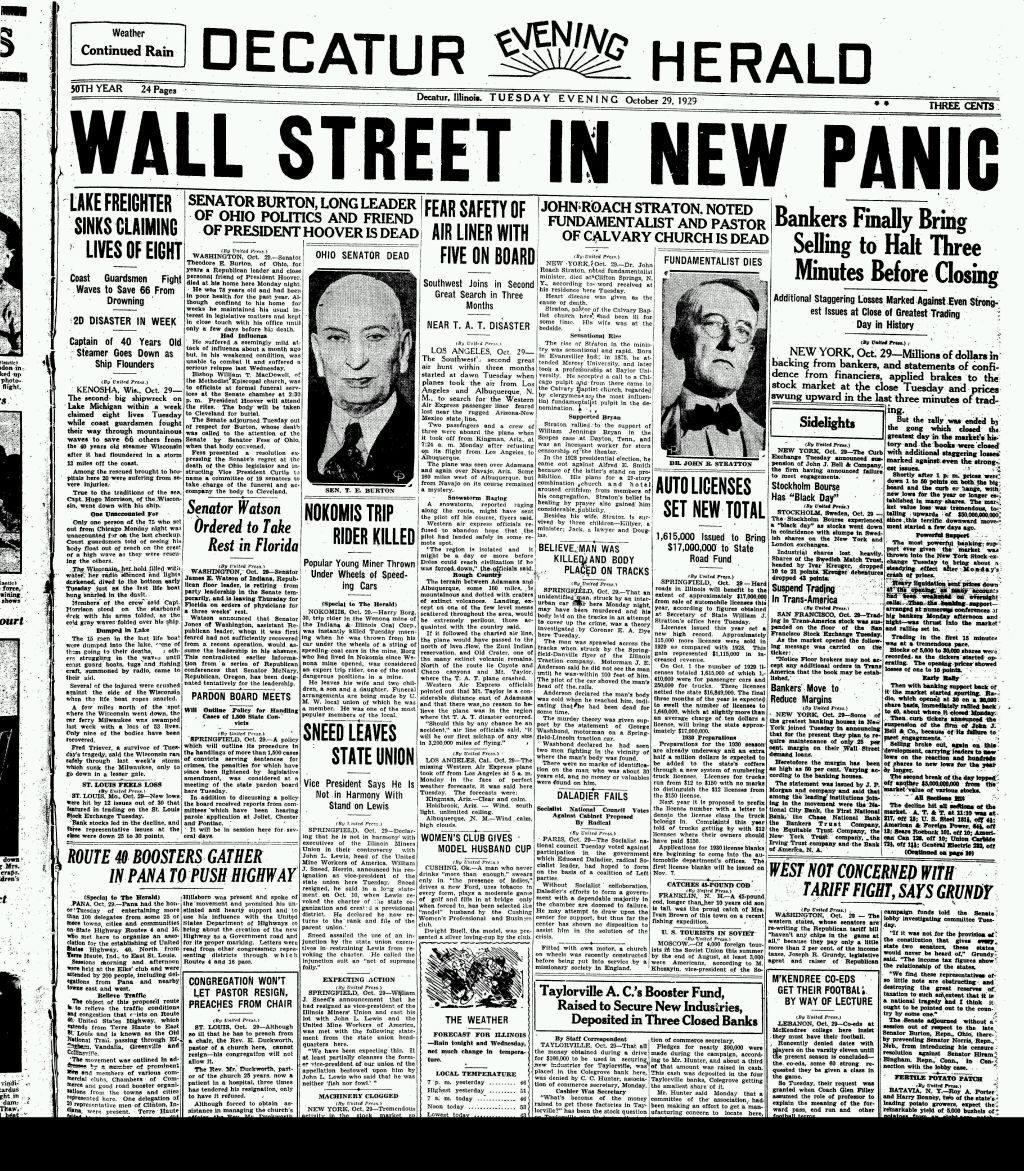 Diario del 29 de octubre de 1929