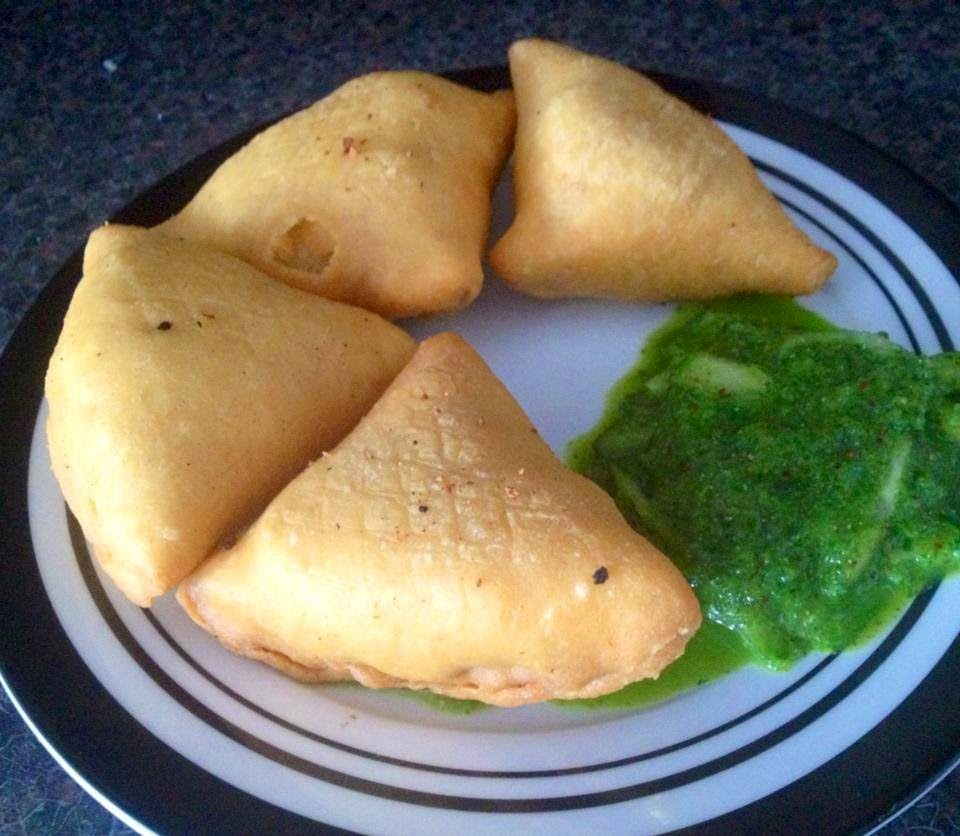 Potato and Peas Samosas
