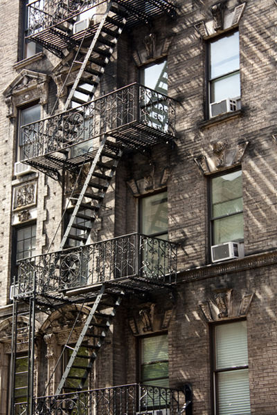 Fire-escape stairs | Soho | photo - Marika Järv