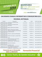 CRONOGRAMA CHARLAS INFORMATIVAS