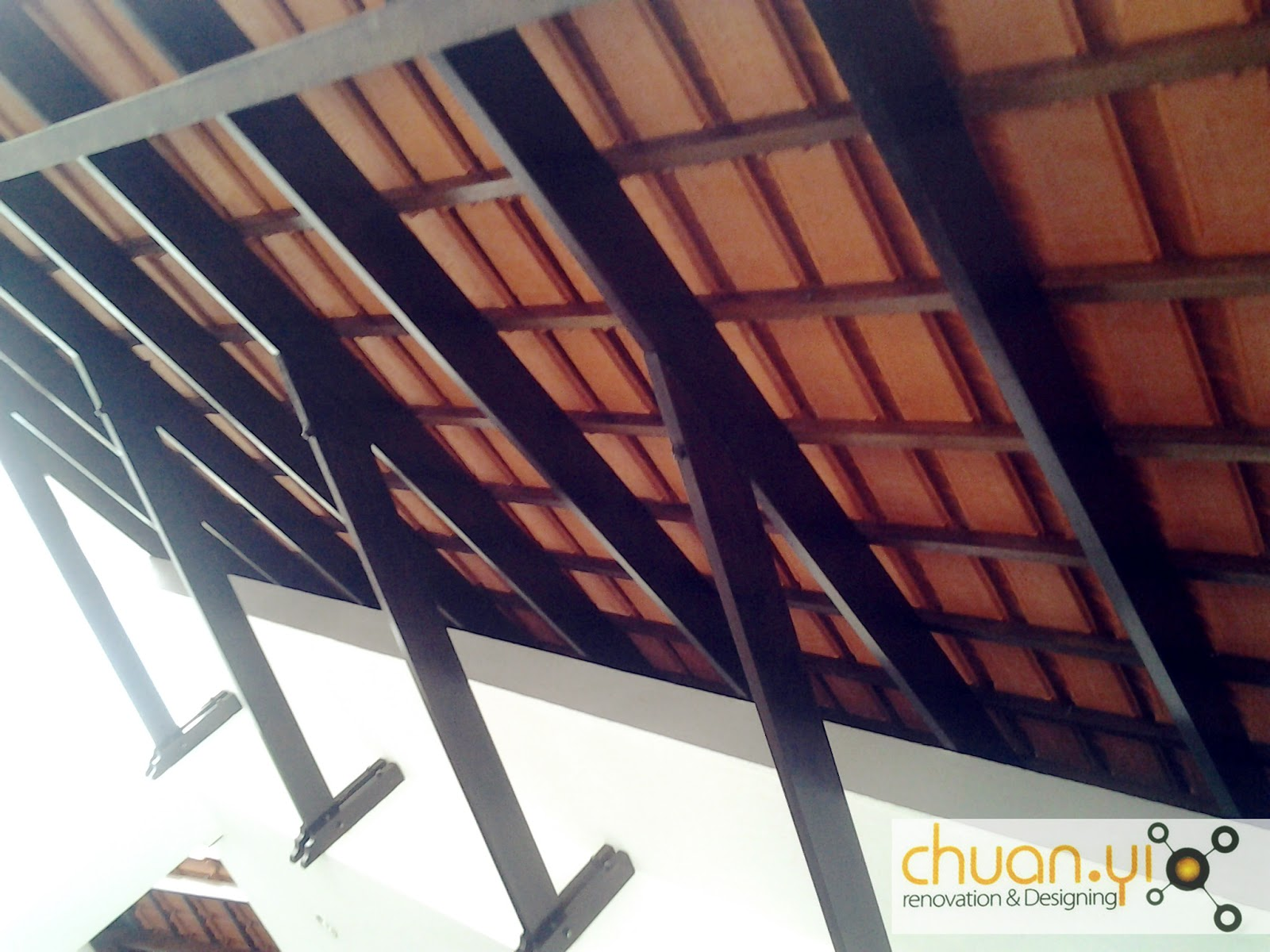 Chuan yi construction renovation sdn bhd january 2012 for Car porch roof