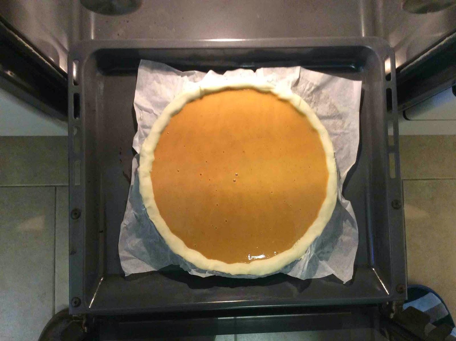 Tarta de Calabaza en el horno a 180ºC
