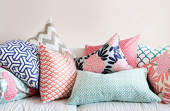 mixed patterns cushions