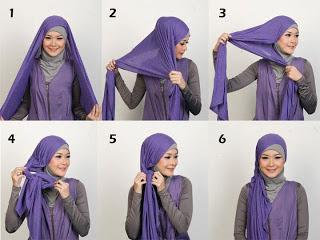 Cara Memakai Jilbab Muslimah
