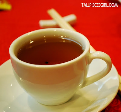 Enjoying a cup of premium Chinese Tea while mingling with fellow bloggers