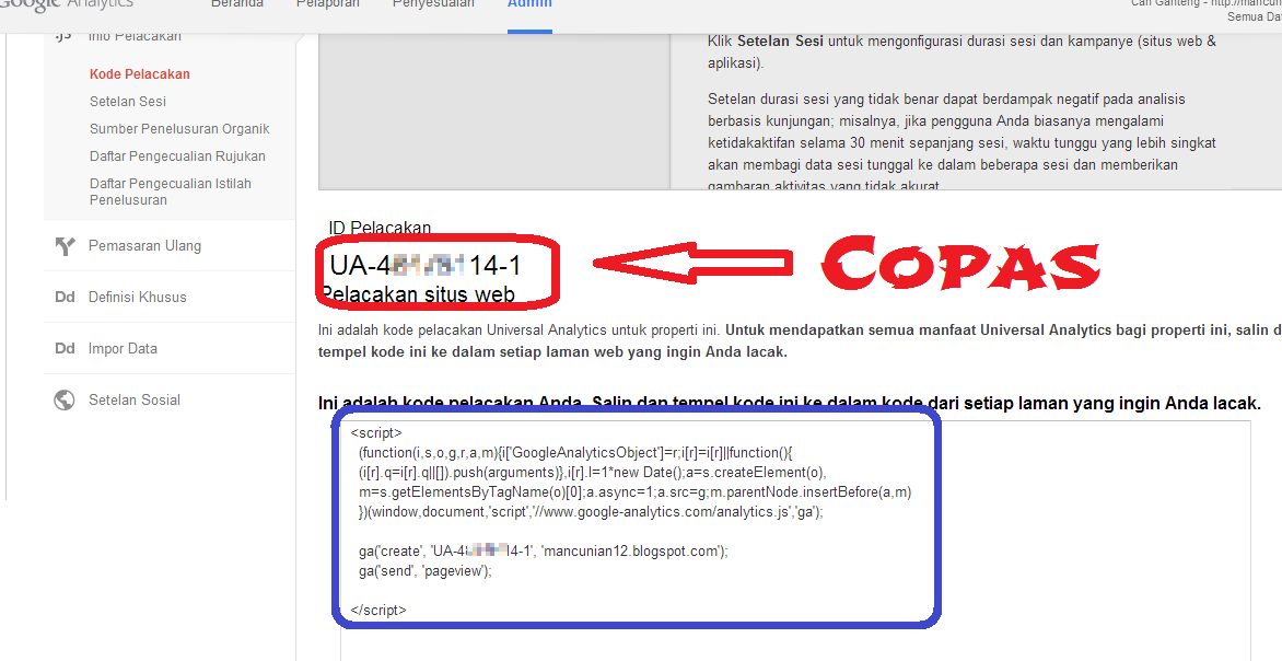 Cara Menambahkan Google Analytics