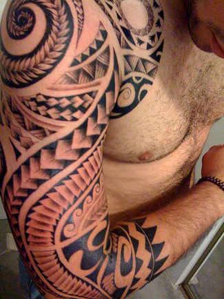 Tribal tattoos for men shoulder and arm japanese tattoos for Shoulder and arm tattoos