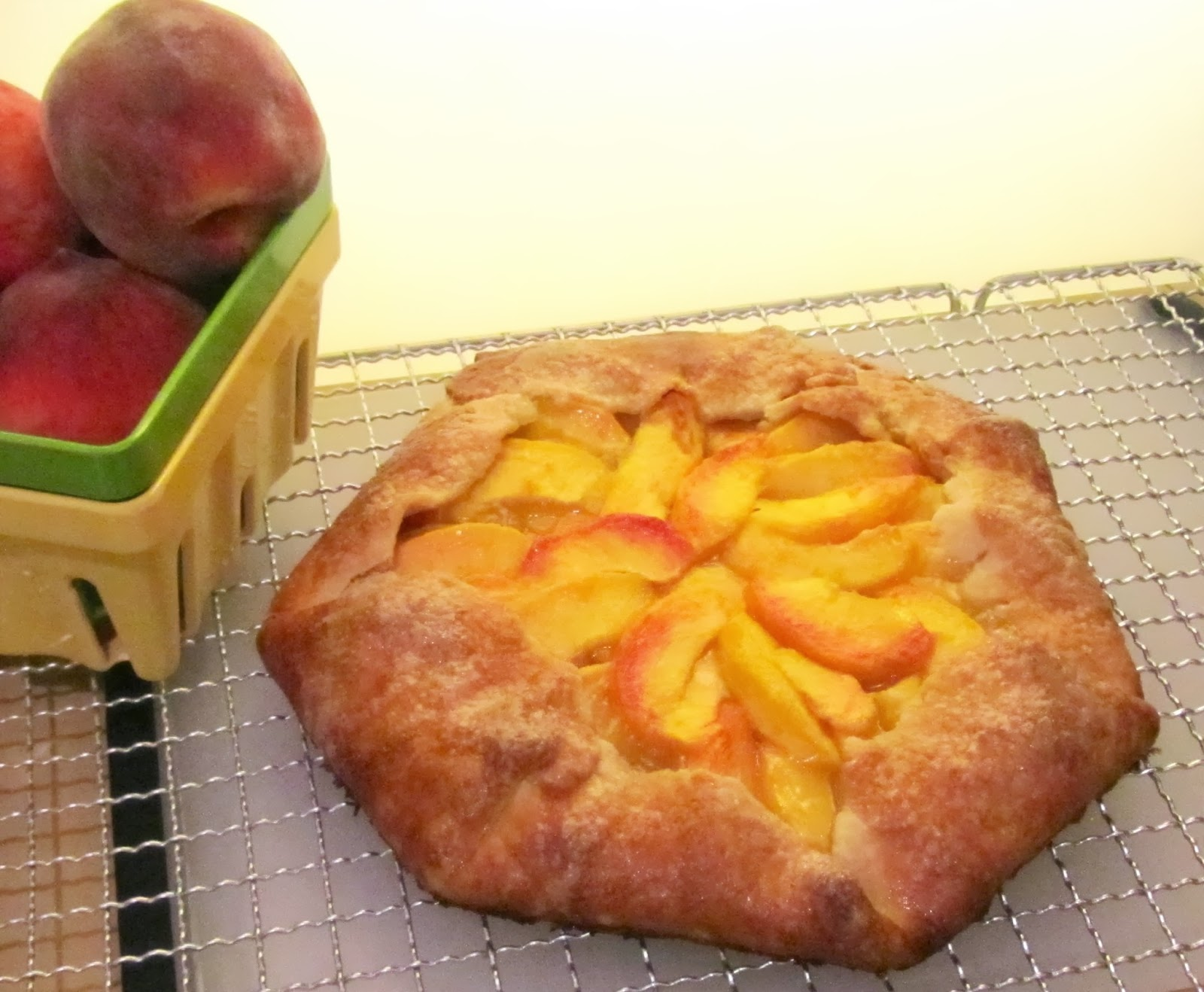 diamonds on the vine: Peach Galette