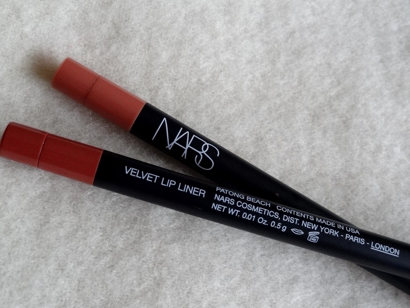 NARS Velvet Lip Liners Waimea and Patong Beach Review, Photos
