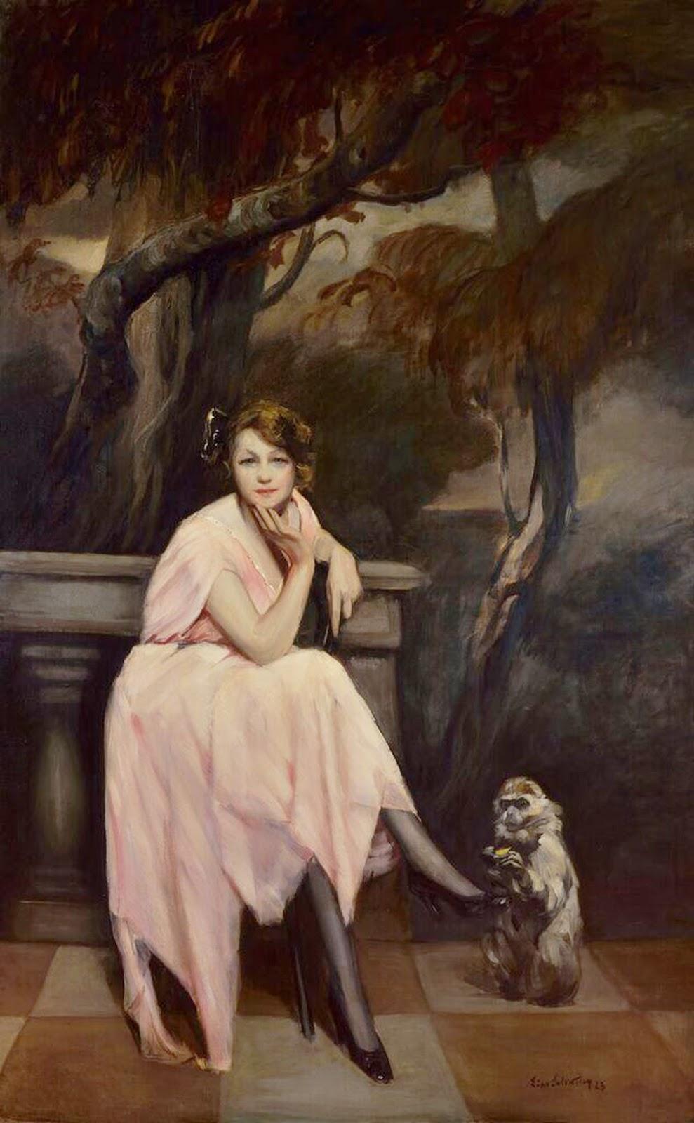Lino Selvatico Signorina in rosa