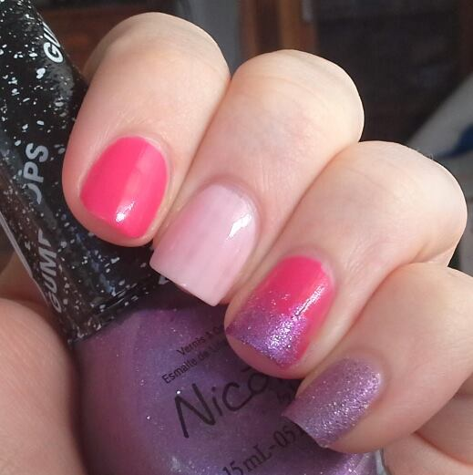Nicole by OPI Do Good Feel Good, Playin' Hooky, I Lilac Gumdrops Nail Art