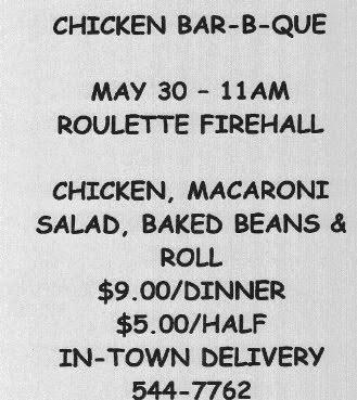 5-30 Chicken BBQ Roulette Firehall
