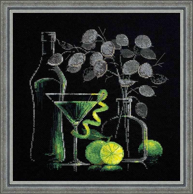 Вышивка натюрморт с красным вином