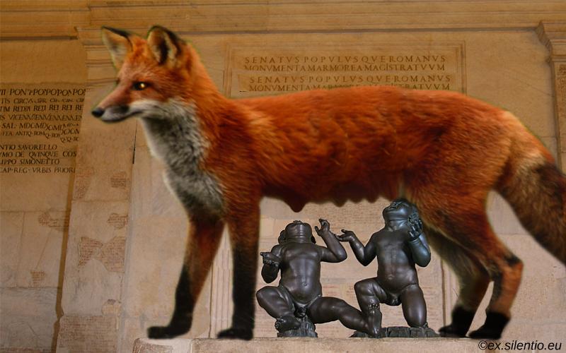 Romulus si Remus crescuti de vulpe