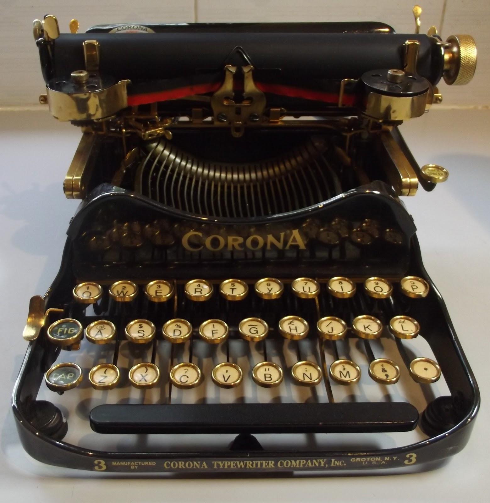 Attractive Vintage Royal Portable Typewriter Part - 11: Gold-Plated Corona 3 Portable Typewriter