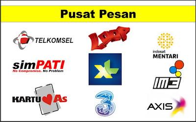 Nomor Pusat Pesan Telkomsel, XL, Indosat, Axis dan 3