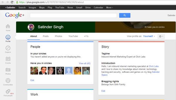 Google Plus Update