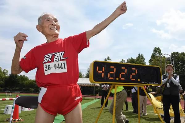 Japonês de 105 anos estabelece recorde nos 100 metros rasos