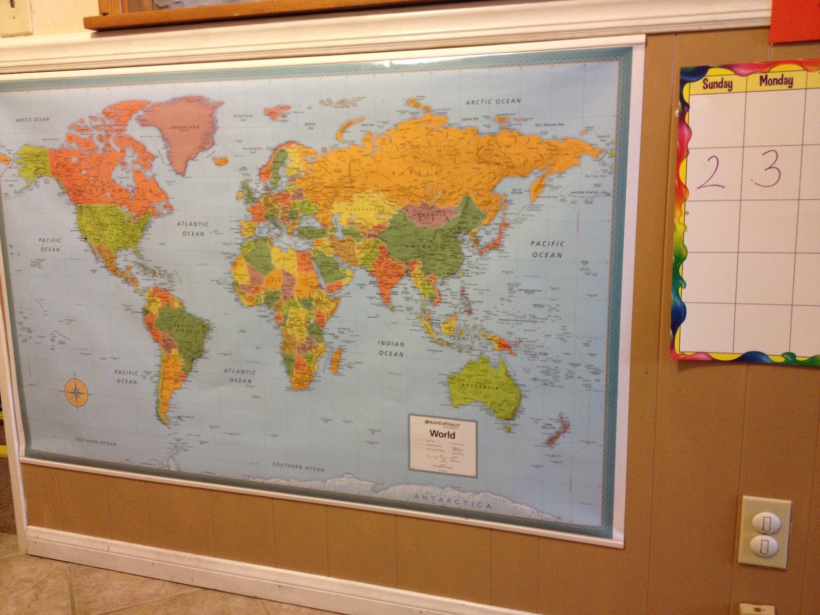 in addition to the calendar you may notice a map in the above picture i picked up two big maps one world and one us