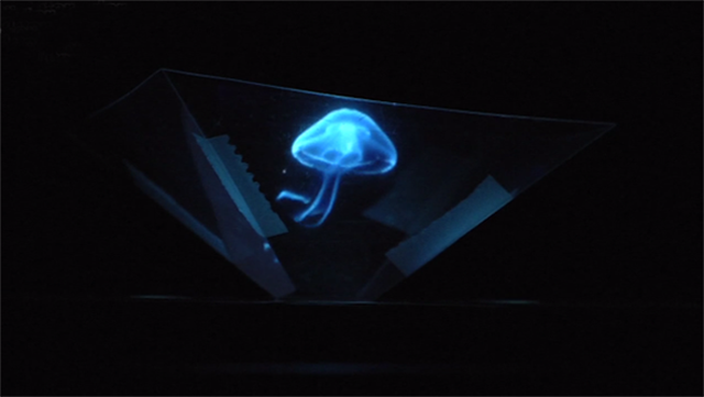 How to convert the iphone into a projector 3d holograms for Projector that works with iphone