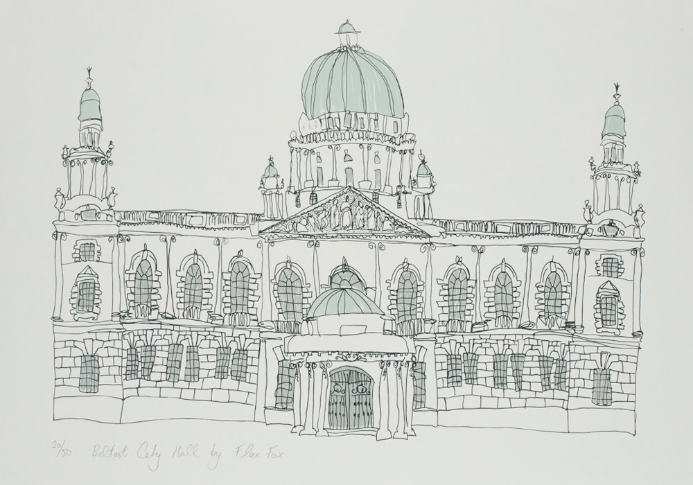 Belfast City Hall print by Flax Fox, Belfast