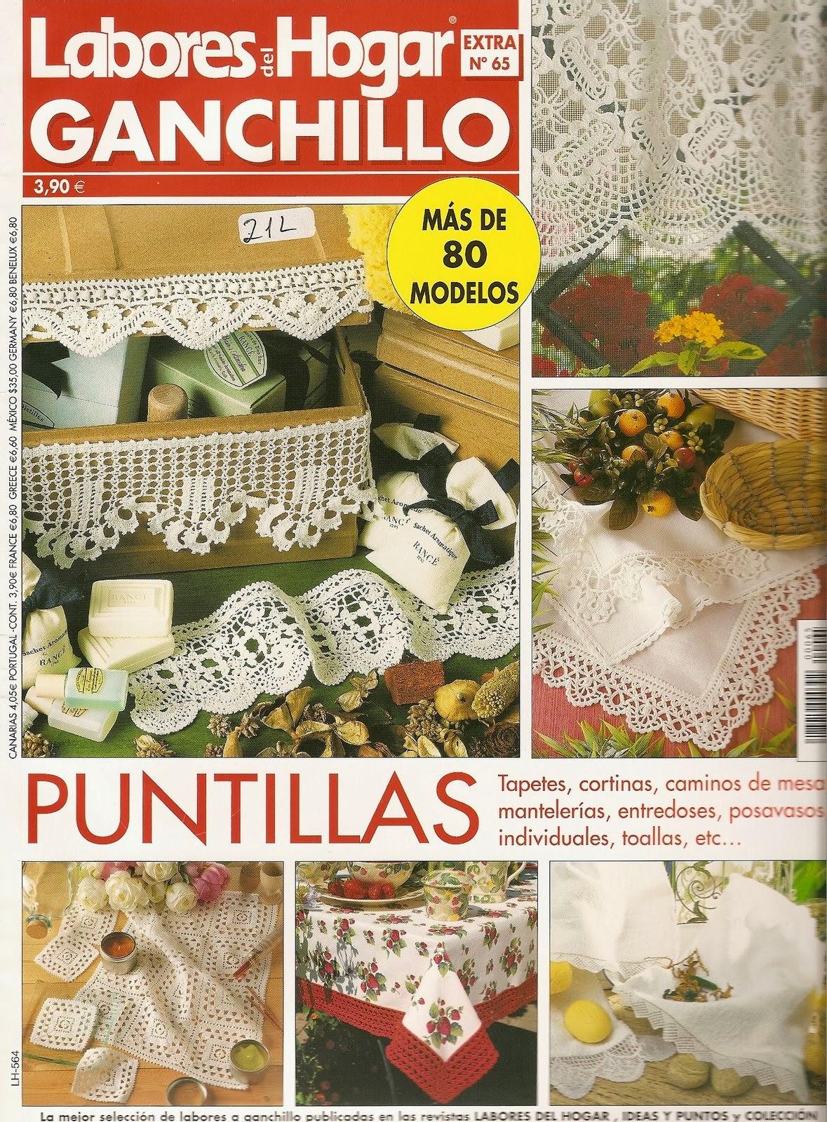 Labores para el hogar en crochet revistas de for Decoracion del hogar en crochet