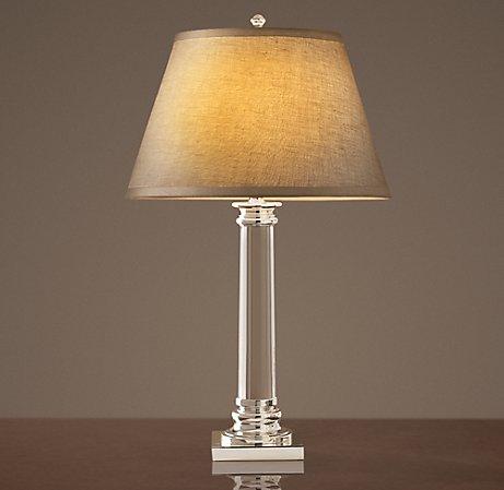 Copy cat chic restoration hardware chelsea column table lamp - Restoration hardware lamps table ...