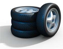 quatre pneus de voiture