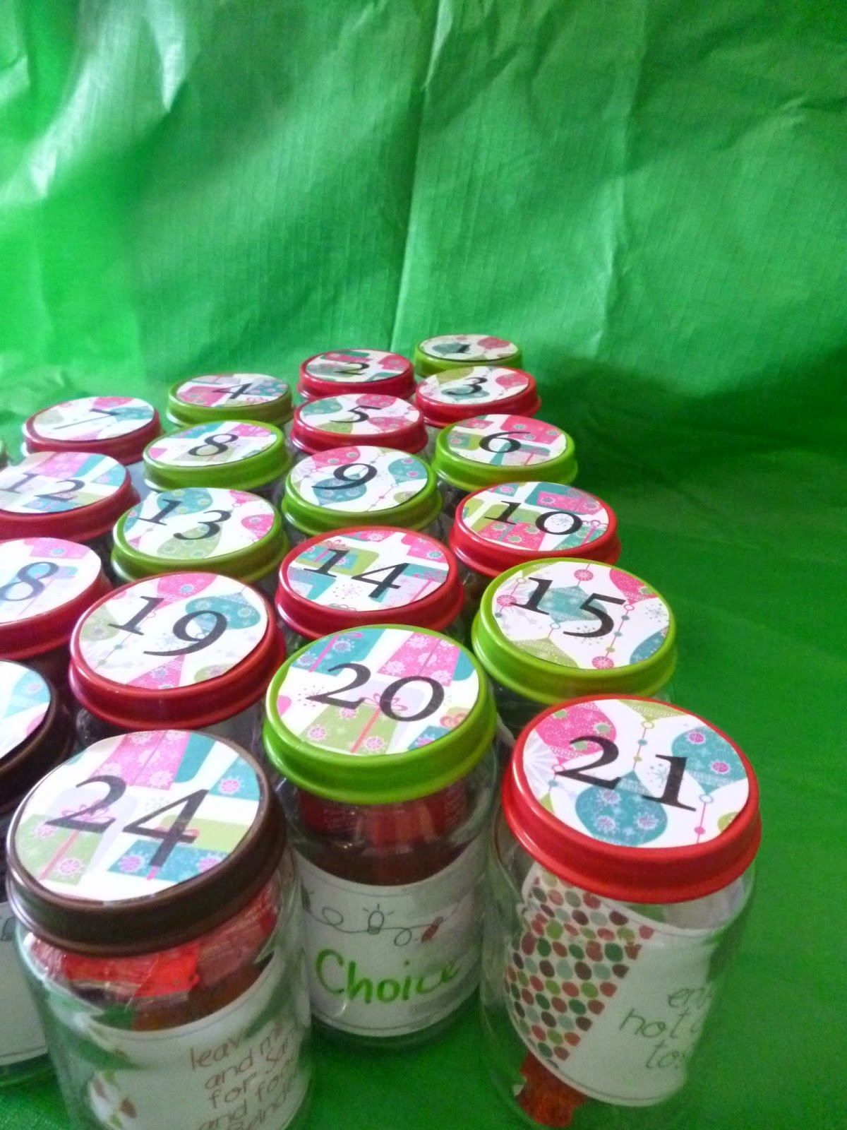 DIY: Baby Food Jar Advent Calendar - Teacher by trade ...