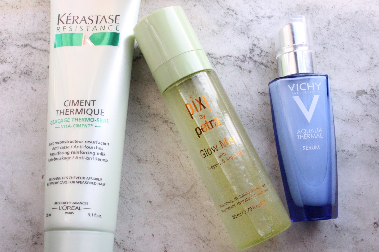 New Beauty On Trial - Kerastase Ciment Thermique, Pixi Glow Tonic, Vichy Aqualia Thermal Serum