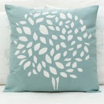 Cut out tree cushion