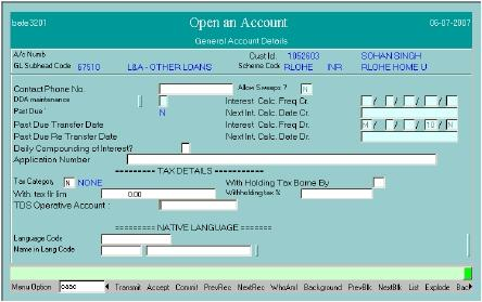 loan account opening in finacle through oaac in detail finacle rh finaclecommands blogspot com finacle core banking user manual Finacle Universal Banking Solution