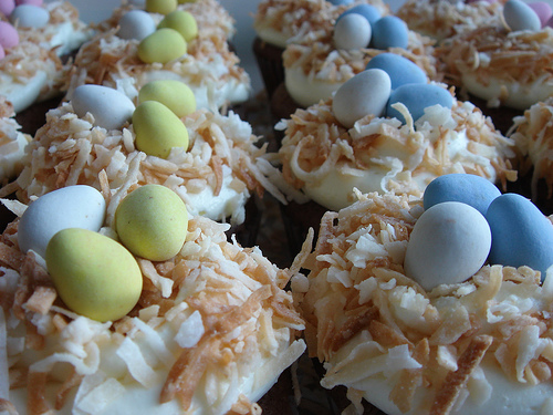 easter cupcakes recipes. bird#39;s nest cupcakes at my
