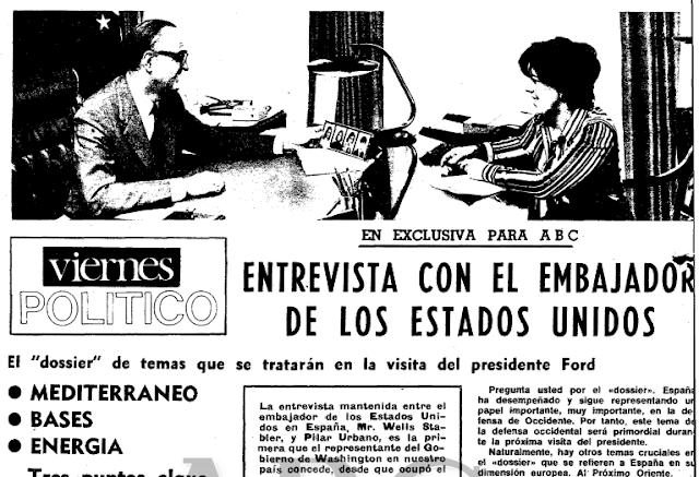 """""""Más del 90% de los saharauis votará por la independencia"""" (Gomez de Salazar, mayo 1975)"""