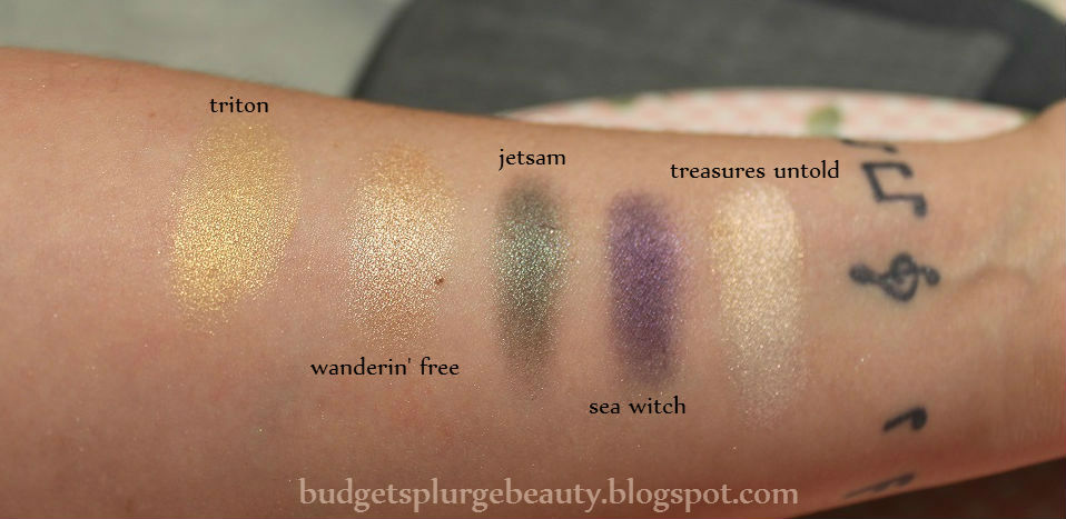 row four of the Ariel palette swatches