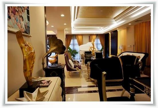 phòng khách villas Saigon pearl - biệt thự quận bình thạnh