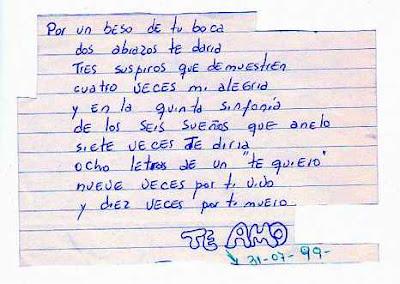 carta de amor olvidada en un libro