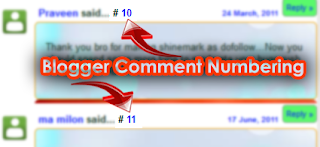 Numbering the comments in blogger