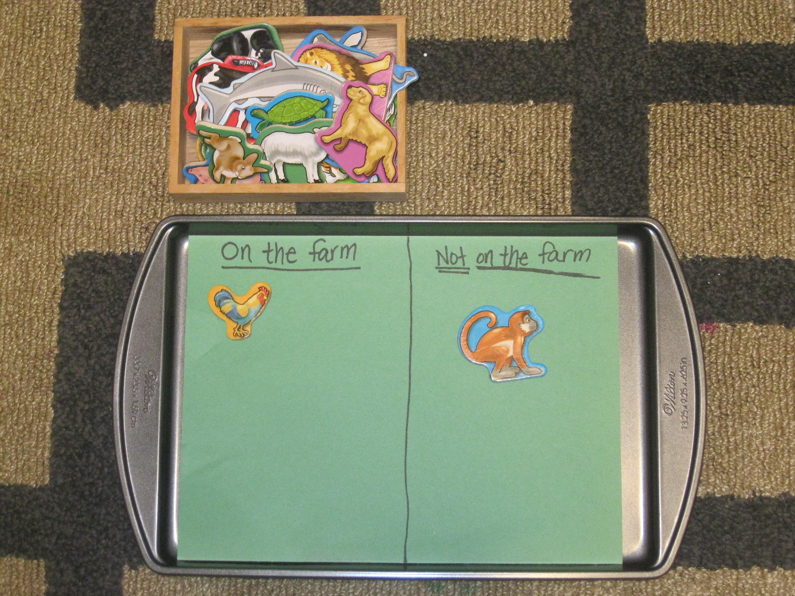 The Preschool Experiment: Farm Theme Tot Trays