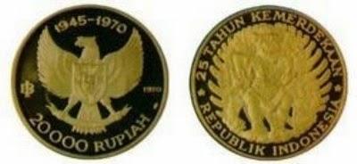 Uang Koin Pecahan 20.000 Rupiah 1970