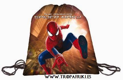 mochilas frikis cuerdas: Bolsa de cuerdas Spiderman 2 9,20€