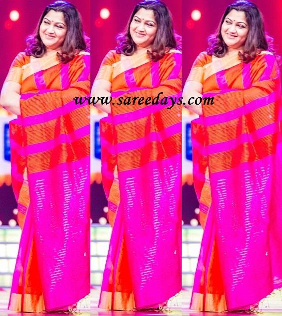 Latest saree designs kushboo in pink traditional silk saree kushboo in pink traditional silk saree altavistaventures Image collections